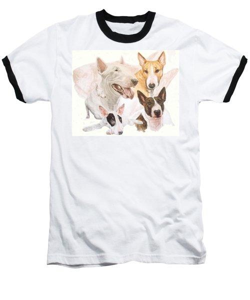 Bull Terrier Medley Baseball T-Shirt
