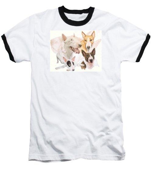 Bull Terrier W/ghost Baseball T-Shirt