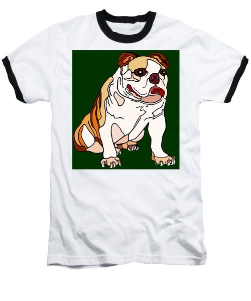 Bulldog Baseball T-Shirt by Marian Cates