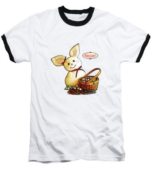 Bunny N Eggs Card Baseball T-Shirt by Methune Hively
