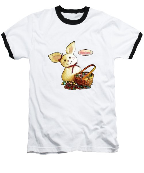 Bunny N Eggs Card Baseball T-Shirt
