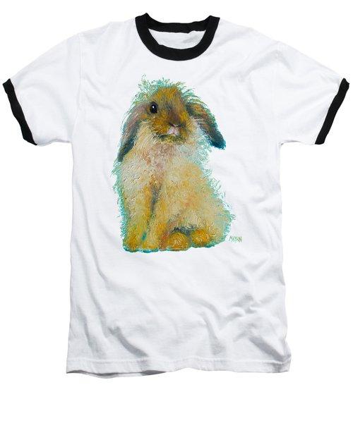 Bunny Rabbit Painting Baseball T-Shirt by Jan Matson