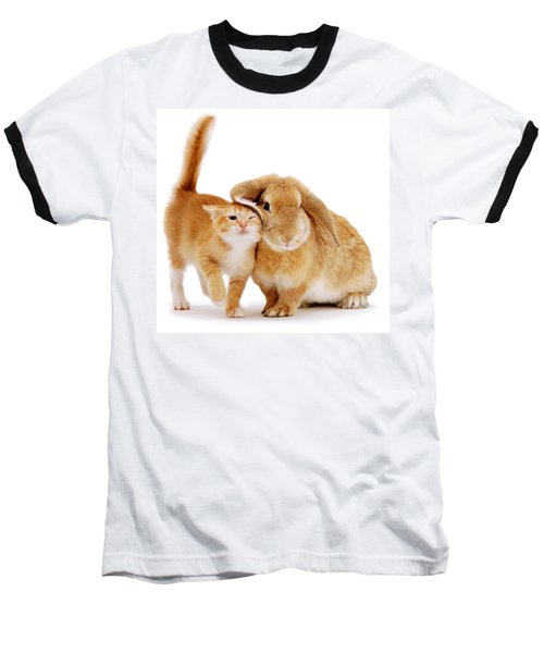 Bunny Rubbing Baseball T-Shirt