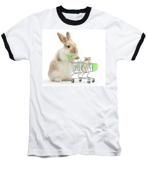 Bunny Shopping Baseball T-Shirt