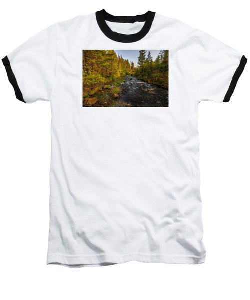 Burney Falls Hdr Baseball T-Shirt