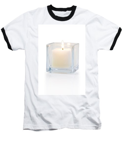 Burning Candle Side View 20 Degree Baseball T-Shirt