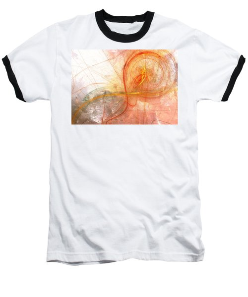 Burning Treble Clef Baseball T-Shirt