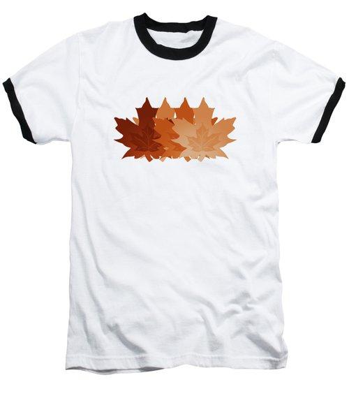 Burnt Sienna Autumn Leaves Baseball T-Shirt