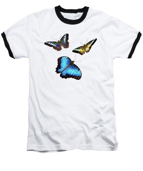 Butterflies Baseball T-Shirt