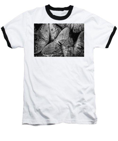 Butterfly #2056 Bw Baseball T-Shirt