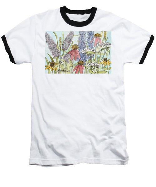 Butterfly Bush In Garden Baseball T-Shirt by Laurie Rohner