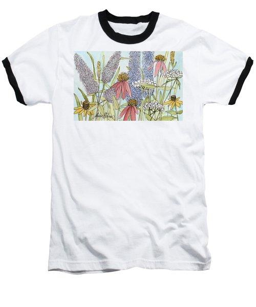 Butterfly Bush In Garden Baseball T-Shirt