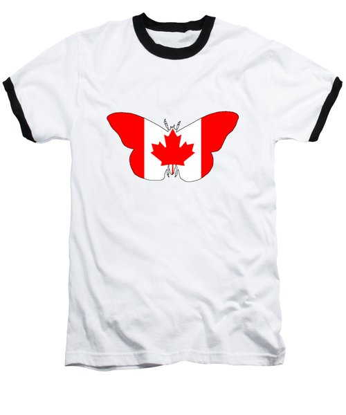 Butterfly Canada  Baseball T-Shirt by Mordax Furittus