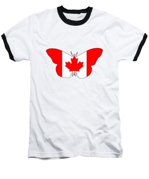 Butterfly Canada  Baseball T-Shirt
