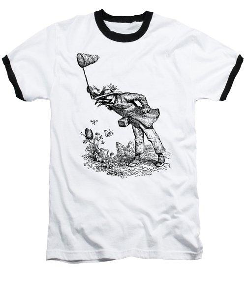 Butterfly Hunting Grandville Transparent Background Baseball T-Shirt