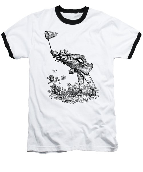 Butterfly Hunting Grandville Transparent Background Baseball T-Shirt