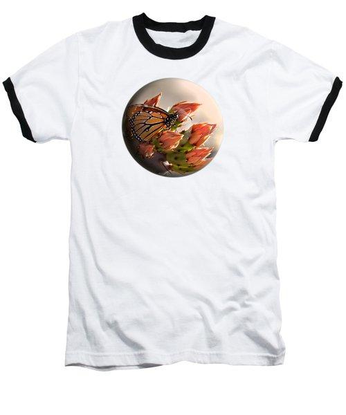Butterfly In A Globe Baseball T-Shirt