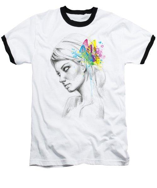 Butterfly Queen Baseball T-Shirt