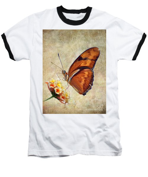 Butterfly Baseball T-Shirt by Savannah Gibbs