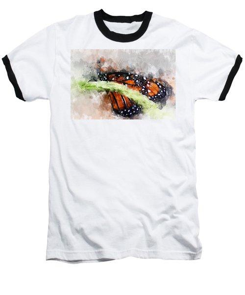 Butterfly Watercolor Baseball T-Shirt