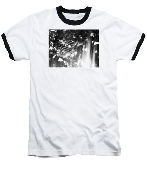 Baseball T-Shirt featuring the photograph Bw Gossamer Glow by Megan Dirsa-DuBois
