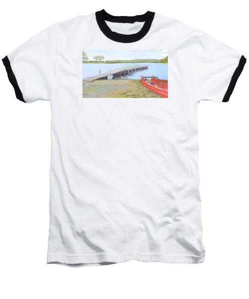 By The Lake Baseball T-Shirt by Joanne Perkins