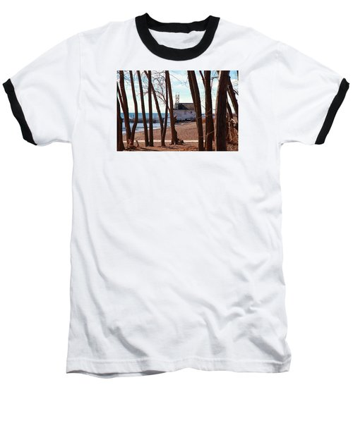 Baseball T-Shirt featuring the photograph By The Lake by Valentino Visentini