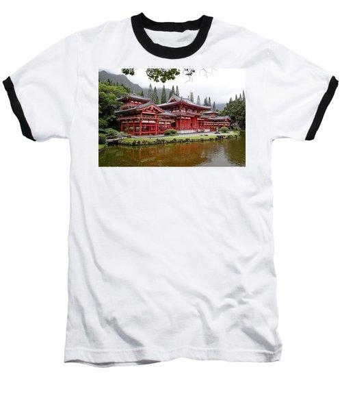 Byodo-in Temple Oahu Baseball T-Shirt