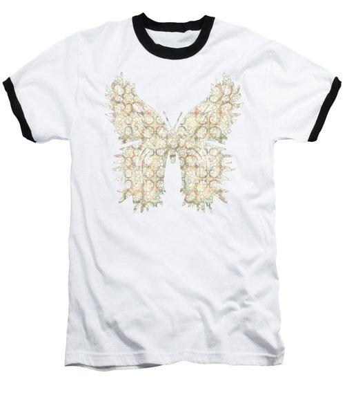Cabbage Crackle White Baseball T-Shirt