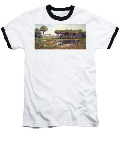 Cabbage Palm Hammock Baseball T-Shirt by Laurie Hein