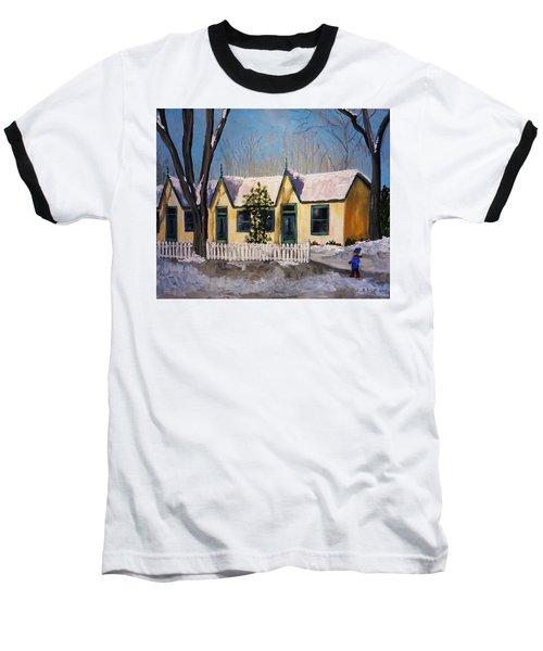 Cabbagetown Christmas Baseball T-Shirt by Diane Arlitt