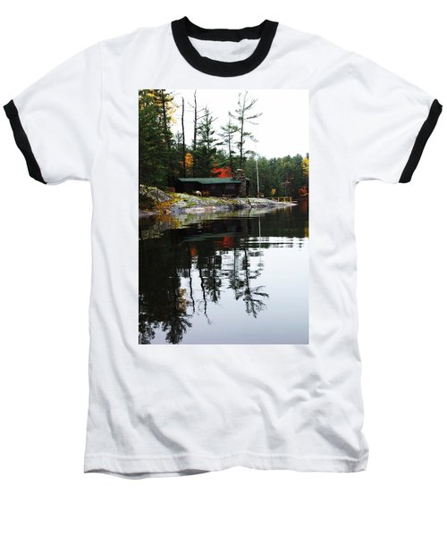 Cabin On The Rocks Baseball T-Shirt