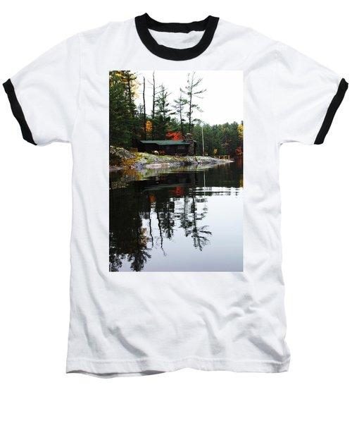 Cabin On The Rocks Baseball T-Shirt