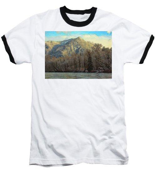 Cabin On The Skagit River Baseball T-Shirt