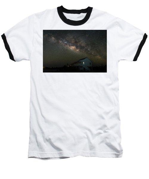 Cabin Under The Milky Way Baseball T-Shirt