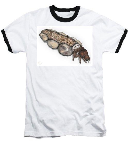 Caddisfly Larva Nymph Goeridae_silo_pallipes -  Baseball T-Shirt