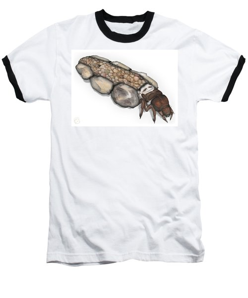 Caddisfly Larva Nymph Goeridae_silo_pallipes -  Baseball T-Shirt