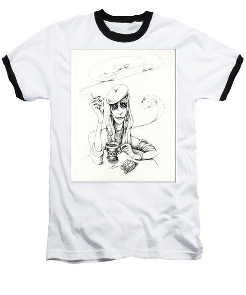 Cafe Lady Baseball T-Shirt