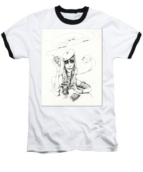 Cafe Lady Baseball T-Shirt