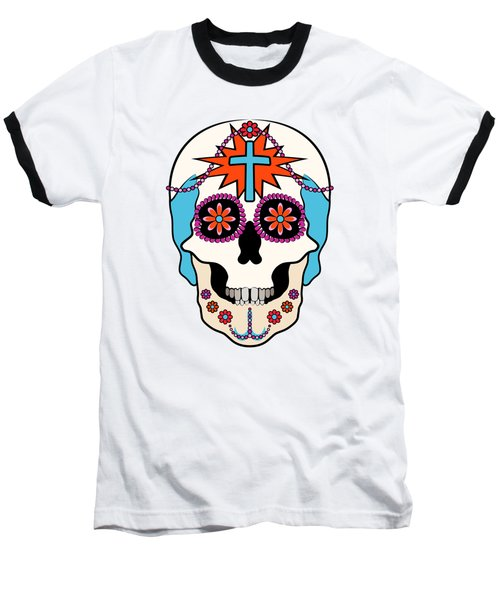 Baseball T-Shirt featuring the digital art Calavera Graphic by MM Anderson