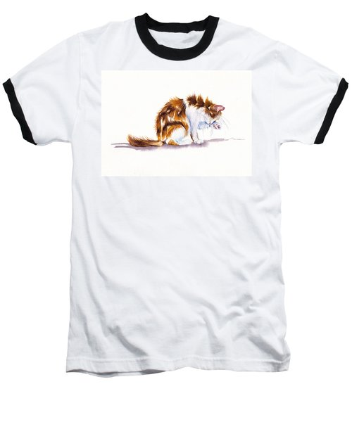 Calico Cat Washing Baseball T-Shirt