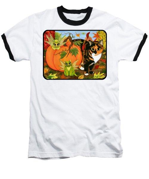 Calico's Mystical Pumpkin Baseball T-Shirt