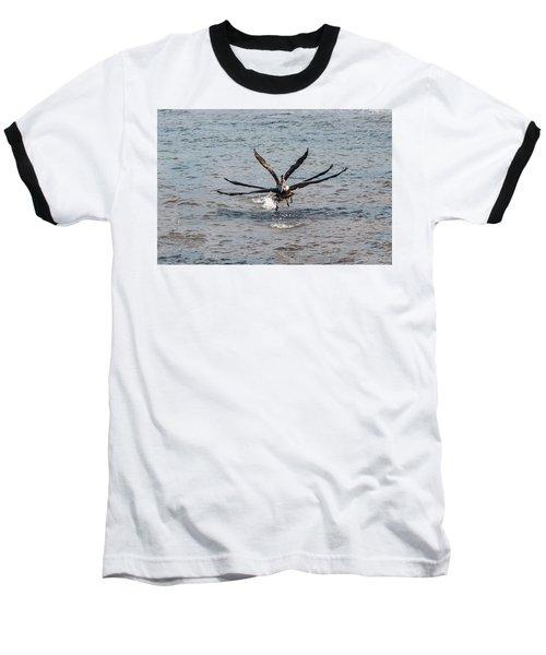 California Brown Pelicans Flying In Tandem Baseball T-Shirt