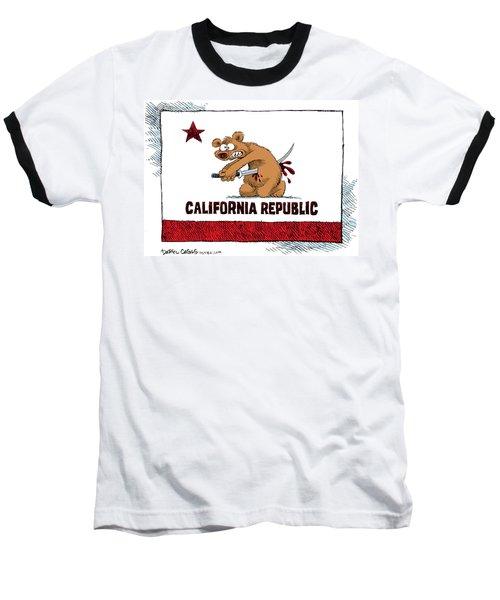 California Budget Harakiri Baseball T-Shirt