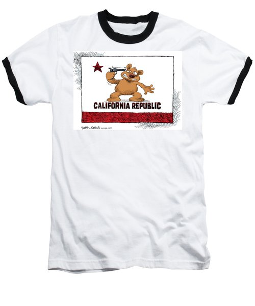 California Budget Suicide Baseball T-Shirt
