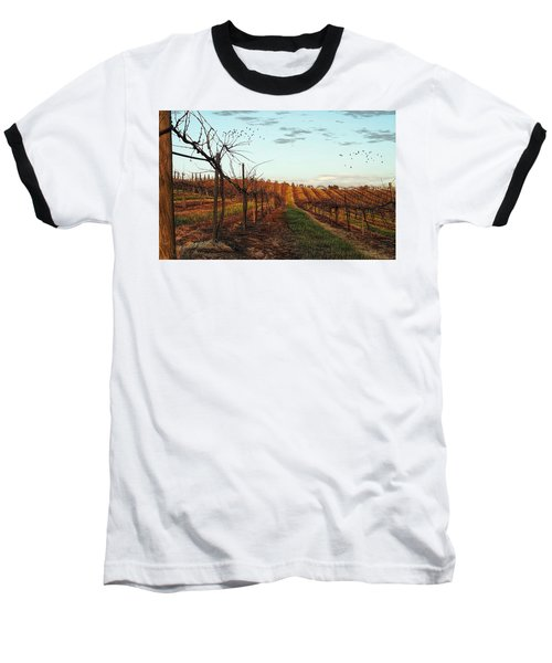 California Vineyard In Winter Baseball T-Shirt