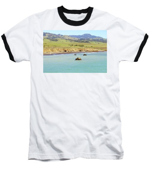 Baseball T-Shirt featuring the photograph California's Central Coast by Art Block Collections