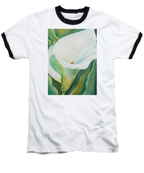 Calla Lily Baseball T-Shirt by Ruth Kamenev