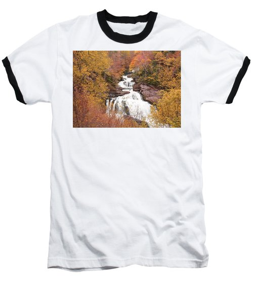 Baseball T-Shirt featuring the photograph Callasaja Falls- North Carolina 2 by Penny Lisowski