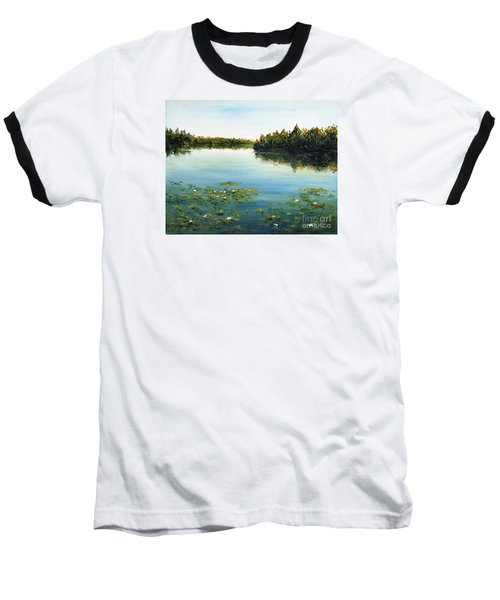 Baseball T-Shirt featuring the painting Calm by Arturas Slapsys